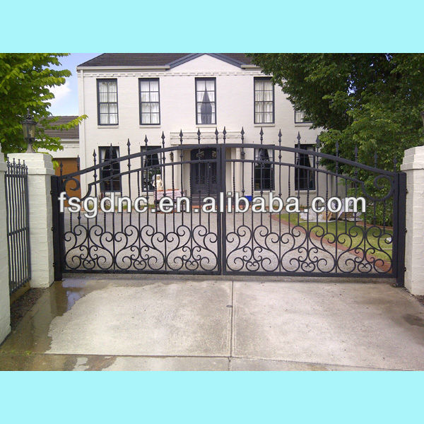 Wrought iron gate design