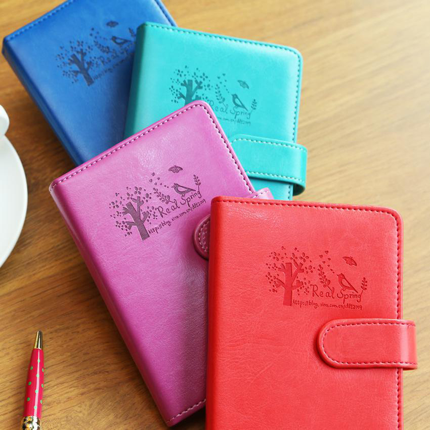 Wholesale promotion custom PU leather materials of cover notebook with logo printed