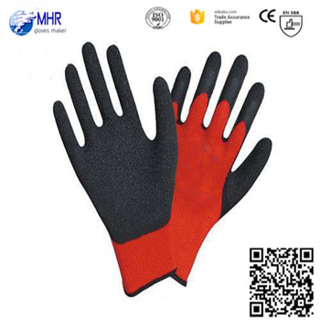 13 gauge cheap red latex wroking gloves