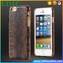 Business Style!Luxury Slim Snake Skin PU Leather Mobile Phone Case For iphone 6 Plus 5.5inch Retro Soft Back Pouch Cover Black
