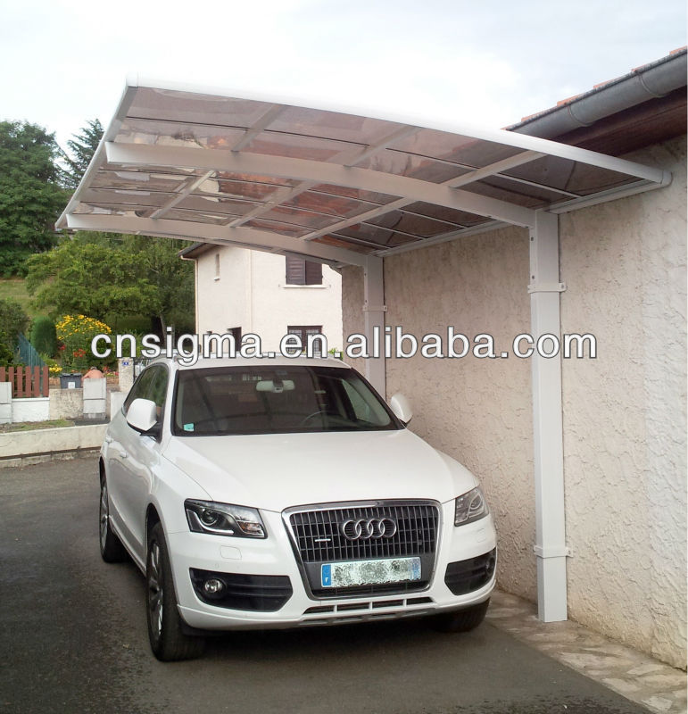 2016 Sigma weatherproof cheap aluminum frame polycarbonate covering carport canopy