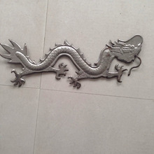 cast iron parts wrought iron dragon metal gate door decoration