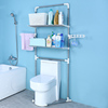 2 Layers Stainless Steel Contemporary Free Standing Bathroom Corner Shelf Toilet Rack Over-the-Toilet Storage
