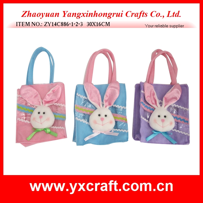 Easter decoration (ZY14C886-1-2-3 30X16CM) easter felt bag, easter bunny/rabbit decoration, easter decoration for kid