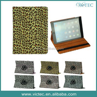 Leopard Printing PU Leather Smart Tablet Leather Case for iPad 6 iPad Air 2
