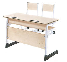 Modern Double Seat Student Desk and Chair School Furniture