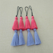 Factory Wholesale hand work assorted colors small cotton tassel