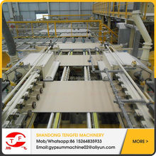 paper faced gypsum wall panel machine green decorate gypsum board production line with knauf technology for sale