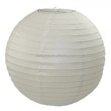 Hot sale lampion cheap white colour chinese round paper lantern for wedding party decoration