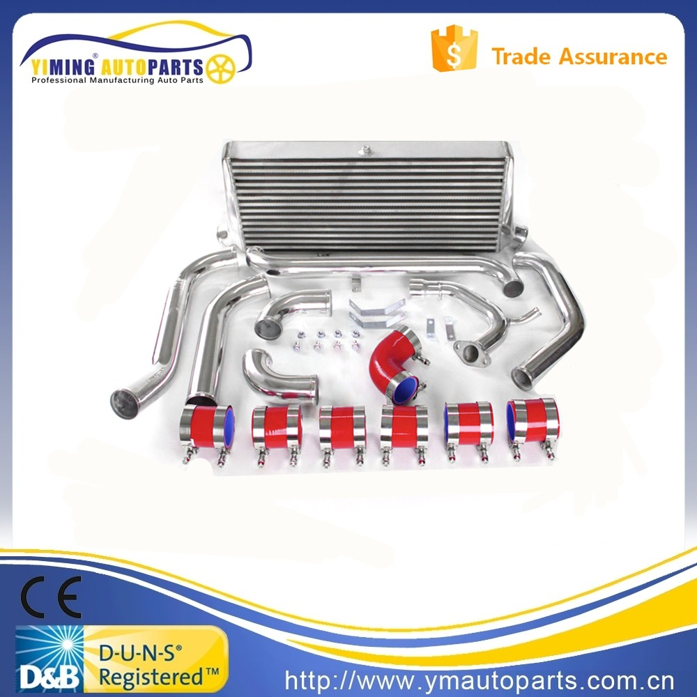 Freightliner Intercooler for Toyota Starlet Glanza EP91 EP82 Alloy Front Mount Intercooler Pipe Kit Red