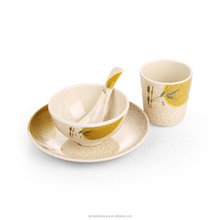 Eco-friendly tableware darcaena flower soup bowl plate Melamine set with FDA standard