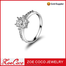 Latest Designs plated Gold Diamond engagement rings Jewelry for Women