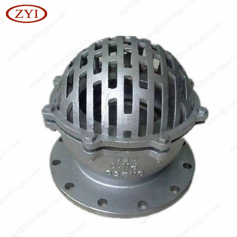 China Manufacturer 3 4 6 inch Non Return Cast Carbon Steel flanged Foot Valve