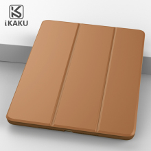 KAKU tablet accessary fashionable folding stand case cover for ipad mini 1 2 3 with sleep/awake function