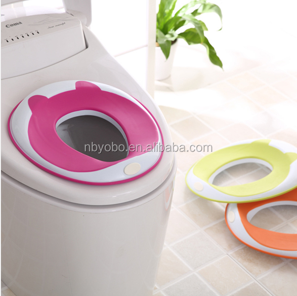 High quality comfortable portable potty training seat baby potty seat with handle