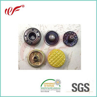 Factory wholesale Metal snap button for garment with painting cap
