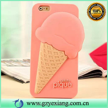 Newest fashion ice cream design Summer style 3D silicon case for iphone 5c silicon back cover