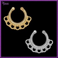 Fancy New Design Tribal Style Fake Septum Nose Rings Body Jewelry