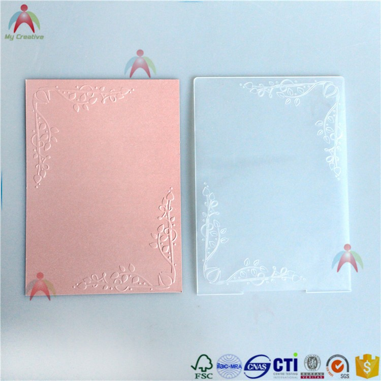scrapbook card making plastic embossing folders