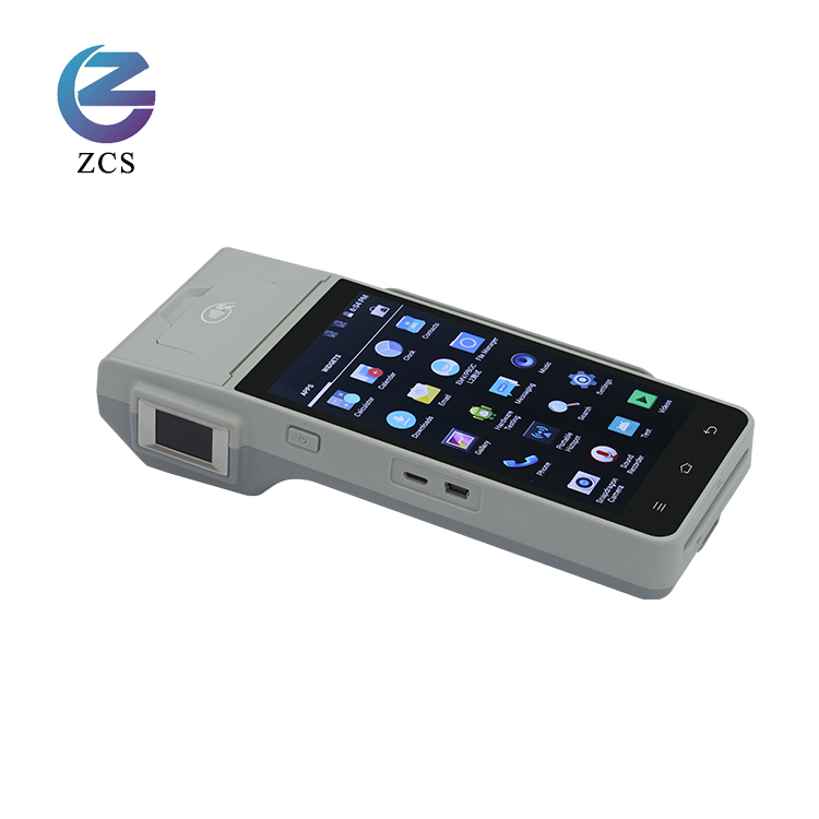 5 inch PCI EMV certified Portable fingerprint scanner GSM android NFC <strong>payment</strong> terminal Banking POS