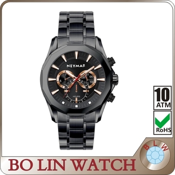 Good quality waterproof big chronograph wrist watches man