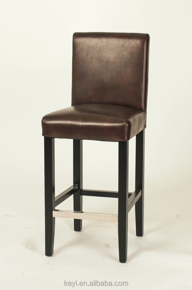 Black Paint Color Wooden Legs Dining Room Hign Chair