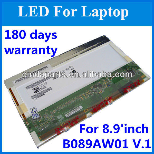 8.9 inch B089AW01 V3 top quality laptop screen LCD display