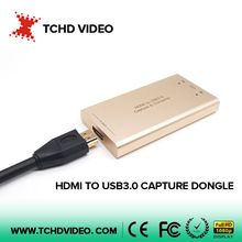 driverless HDMI to USB or SDI to USB video capture card and converter for full HD 1080P60 video streaming and game capture