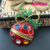 Rhinestone Enamel Christmas Ball Ornament Pin brooch