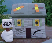 Inflatable log cabin,inflatable advertising house,plastic log cabin for sale