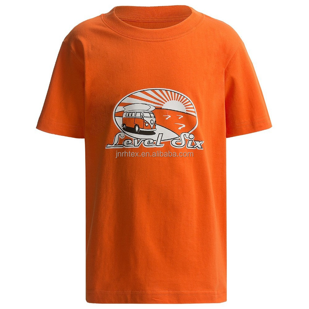 Custom printed 70% polyester 30% cotton t-shirt