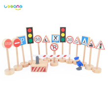 US Traffic Signs and Lights Wood Learning Toy