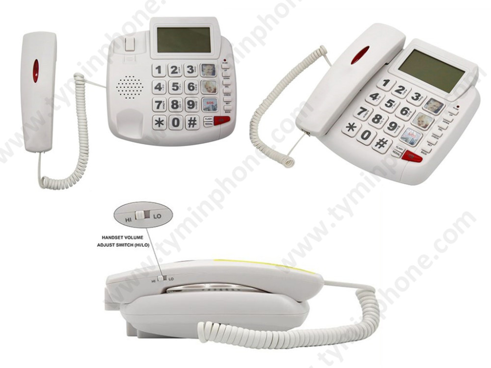 Handsfree speaker amplified telephone big button phone for elderly people