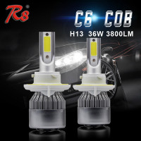 Fasting Shipping Super Bright 72w car auto lamp accessories 6500k 8000lm p7 c6 c7 led headlight