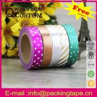 Hot-seller custom printed hot sale decorative foil masking tape shipping from china