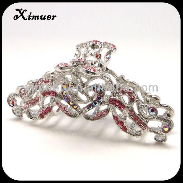 Trendy crystal bear claw hair clip
