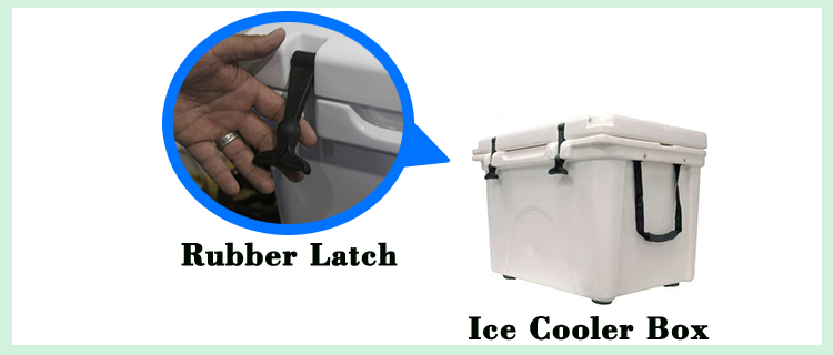 Flexible Hood Rubber Latches Handle Grip