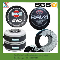Auto spare tyre cover custom branded promotional tire package