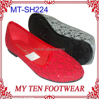 Red Soft Lace New Style Elegant Dress Shoes For Women