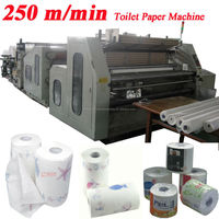 250m Speed Embossing Perforating High Speed Automatic Toilet Paper Machine for Sale