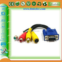 Hot selling good quality 5m 4pin s-video to vga cable audio cable