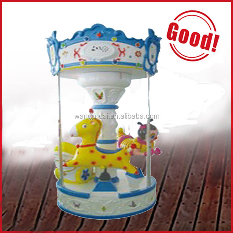 2015 children kids games mini carousel hot sale indoor outdoor amusement park ride