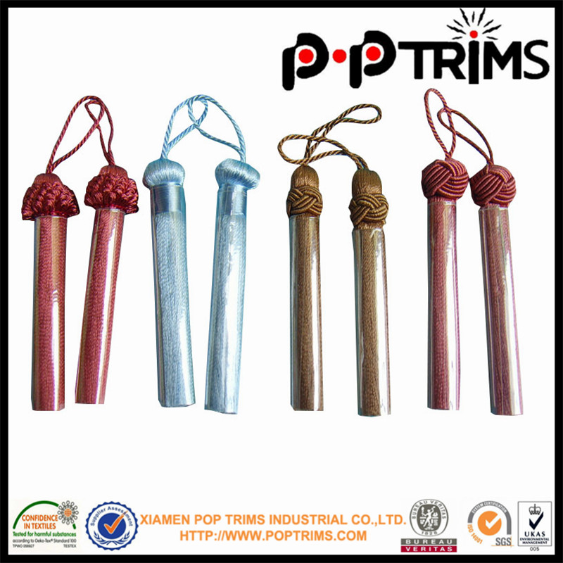 high quality plain curtain tassel fringe /trim for home fitment