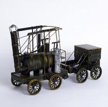 Old Brass Steam Engine Model