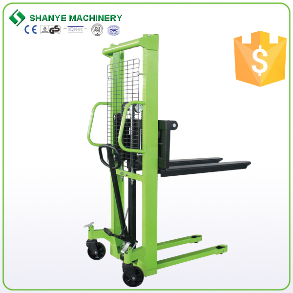 China manufacture high quality hand pallet truck manual hydraulic stacker