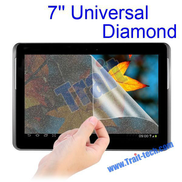 "50pcs Universal 7"" Screen Protector Diamond Screen Film for 7 inch Tablet PC"