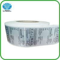 Wholesale High Quality Printed in Roll Aluminum Sticker Label for Electronic Packaging