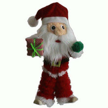 stuffed plush santa claus doll singing and dancing Xmas tree toys