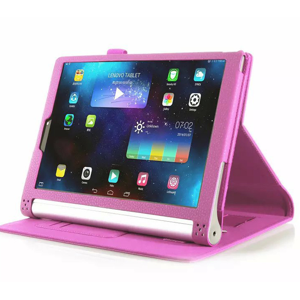 with card holder General waterproof and shockproof pu leather case for Lenovo tablet YOGA 10inch