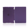 Detachable Rubberized Hard Smart Cover And Back Case for iPad 2 3 4 Air Mini Pro case, purple